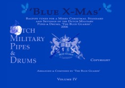 Bagpipe music sheet Blue X mas